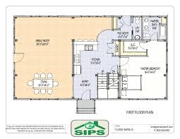 cottage open floor plan small modern cabin house plan by freegreen energy efficient