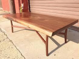 Walnut Slab Table by Custom Made Black Walnut Slab Coffee Table By Martell Woodworks
