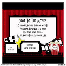 Make Your Own Invitation Cards Movie Birthday Party Invitations Theruntime Com