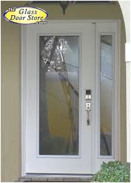 Modern Exterior Doors by Modern Front Door With Glass Insert And Sidelight Very Private