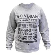 go vegan multilingual unisex sweatshirt peta catalog