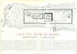 pagani drawing lina bo bardi u0026 carlo pagani casa sul mare di sicilia 1940