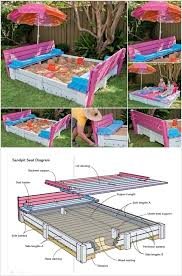 Backyard Sandbox Ideas Interesting Wooden Sandbox With Seats And Diy Backyard Sandbox