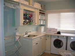 Laundry Room Cabinets With Hanging Rod S Bluegrass Cabinet Company S Laundry Room Cabinets With Hanging
