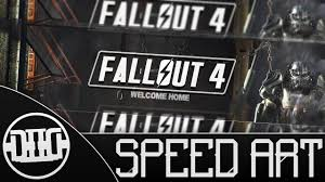 free fallout 4 banner template speed art youtube