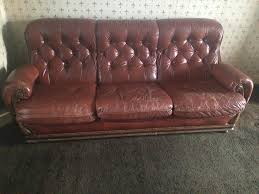 fulham leather sofa for sale settee in kingston london gumtree