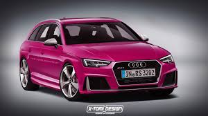 pink audi a6 2017 audi rs4 avant rendered but what will power it autoevolution