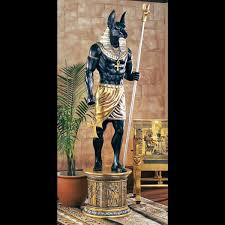 massive lifesize egyptian anubis statue the green head