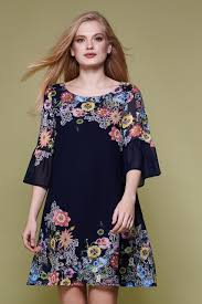 floral flared sleeve tunic dress yumi