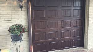Faux Paint Garage Door - metal garage door transformation stained wood faux finish youtube