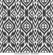black white color tribal ikat vector stock vector 507164389