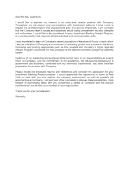 sample cover letter for investment banking guamreview com
