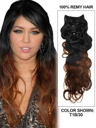 24 inch hair extensions inch charming ombre clip in hair extensions two tone wave 9