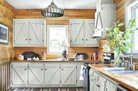Cuisine Lambris - facade cuisine bois cuisine style cagne avec murs en lambris