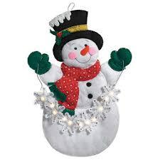 bucilla snowflake snowman wall hanging felt