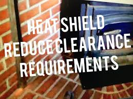 wood stove heat shield installation requirements reduce