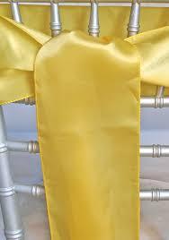 Yellow Chair Yellow Satin Chair Sashes 6x108