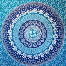Home Decor Tapestry Amazon Com Hippie Elephant Mandala Tapestry Wall Hanging Blue