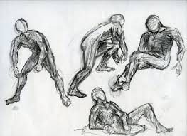 male figure gesture drawing 6 by annathomas2012 on deviantart