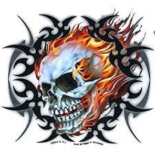 amazon com leathers tribal skull sticker decal