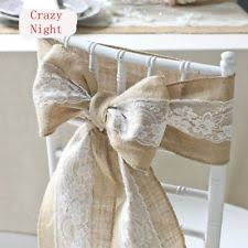 chair sashes wedding burlap chair sashes wedding supplies ebay