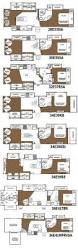 Bunkhouse Trailer Floor Plans Continental Coach 43 U0027 Double Bedroom Floorplans Rv U0027s With Bunk