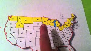 Kids Map Of The United States by Learn The States Song For Kids Northern Border Of The United