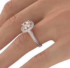 gold and morganite ring 2 60 ct vs pink morganite ring with diamonds