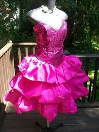Eighties Prom Dresses Polka Dot 80 U0027s Prom Dress With Giant Bow Size M 85 00 Via Etsy