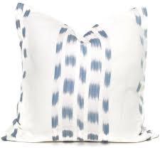 schumacher light blue izmir ikat decorative pillow cover