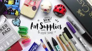 new art supplies and other stuff art supplies haul youtube