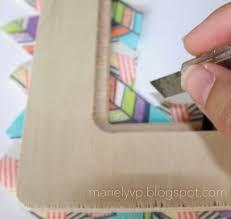 Washi Tape Designs by We Read Diy Washi Tape Photo Frame