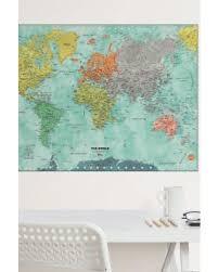 Bargains  f Brewster Home Fashions Aquarelle World Map Dry