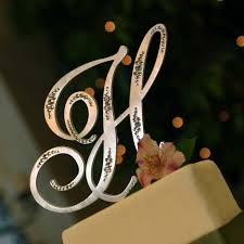 k cake topper monogram wedding cake toppers