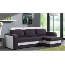 canapé d angle bi matière canapé d angle convertible rapido nyx 140cm bi matière gris et blanc