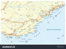 Cannes Map by Detailed Vector Road Map French Riviera Stock Vector 444363658