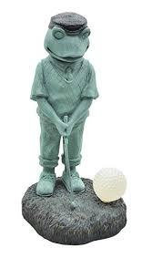 moonrays 92383 solar powered golfer frog white led