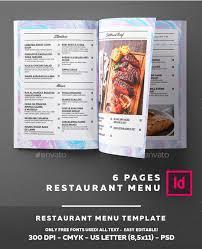 top 25 restaurant menu templates