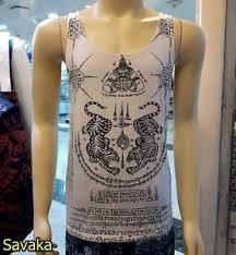 tank top sak yant yantra shirt work talisman amulet muay thai