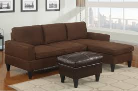 Reversible Sectional Sofa Poundex Reversible Microfiber Sectional Sofa Chaise