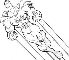 superman coloring pages free printable super heroes coloring