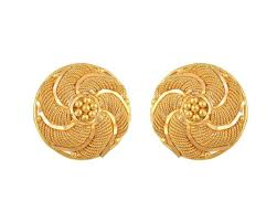 gold earrings with price tanishq gold earrings circular stud jewelry delhi 135356394