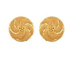 tanishq gold earrings circular stud jewelry delhi 135356394