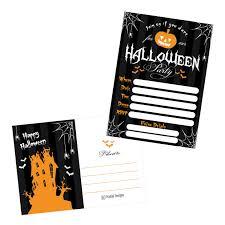 pumpkin invitation amazon com 50 halloween costume party invitations kids or adults