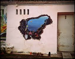 3d mural how to paint perspective broken wall pesquisa google ideas for