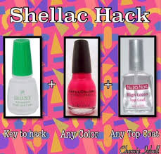 shellac hack at home gel manicure no light needed to activate gel
