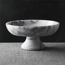 Pedestal Bowls For Centerpieces French Kitchen Marble Fruit Bowl Crate And Barrel