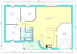plan maison plain pied 3 chambres 100m2 plan maison 2 chambres ball2016 com