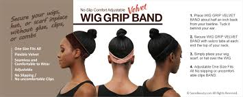 wig grips for women that have hair no slip comfort adjustable wig grip velvet band samsbeauty