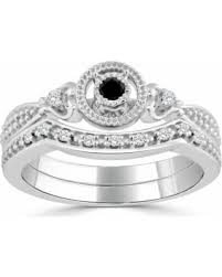 black and white engagement rings for deals on auriya 14k gold 1 4ct tdw black and white